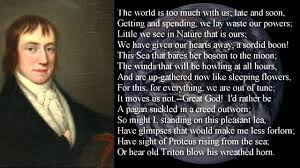 poem the world is too much us by william wordsworth poem  poem the world is too much us by william wordsworth poem text