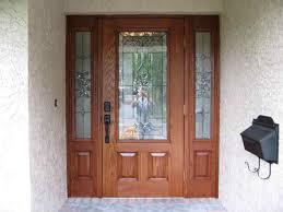 stained woodgrain fiberglass door