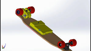 electric longboard cad total