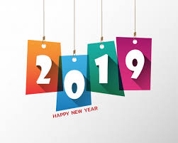 Happy new 2019 year. greetings card. colorful design. vector ...