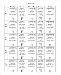 Printable Workout Log 8 Free Pdf Documents Download Free