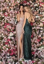 Clarisse 8005 High Slit Sequin Dress