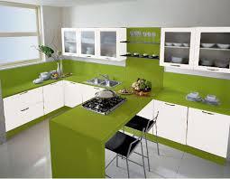 Cocina Blanca Verde Manzana Decorar Tu Casa Es   Cocinas Verdes Y Blancas .