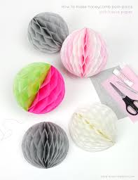 How To Make Paper Balls For Decoration New How To Make Honeycomb PomPoms Mr Printables