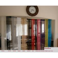 com octorose gold string curtain panel 100x200cm door window fringe home kitchen