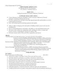 Chemistry Lab Assistant Sample Resume Ha
