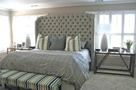 tufted king size headboard  outstanding for diy tufted headboard
