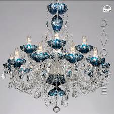 azure galaxy swarovski crystal chandelier from davoluce lighting