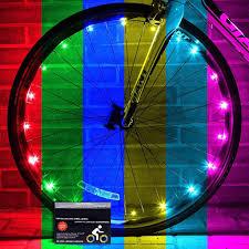 Lights On Wheels Of A Bicycle Bike Lites