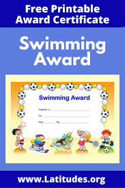printable behavior charts for kids acn latitudes award certificate for swimming primary