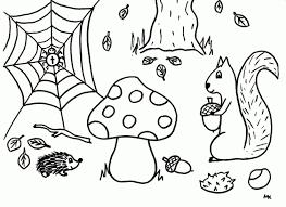 Herfst Kleurplaat Thema Herfst Pinterest Nieuw Herfst