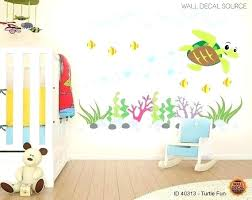 ocean wall stickers ocean animal wall decals together with items similar to sea turtle wall decals