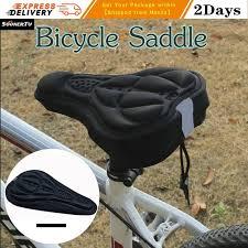 soonertu cycling 3d soft bike saddle bicycle seat saddle cover bike comfort gel pad cushion cover