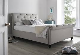 grey upholstered sleigh bed. Grey Upholstered Sleigh Bed In Best Tingha