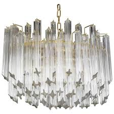 vintage oval tiered camer glass chandelier for