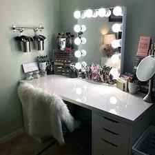 makeup vanity desk with lights the best throughout vanities for bedroomirror ideas 13
