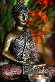 Buddha being mindful