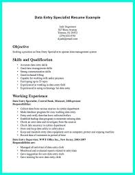 Sample Data Entry Specialist Resume Tomyumtumweb Com