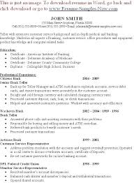 Sample Resume Bank Teller Entry Level Objective Example For Skills