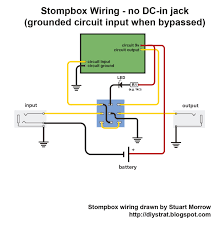 how to wire up a stomp box effects pedal diy strat and other finally here are a couple more circuits for people who want to take out either the battery or the dc in jack