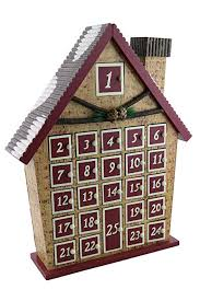 log cabin advent calendar countdown to holiday season 15 x 12
