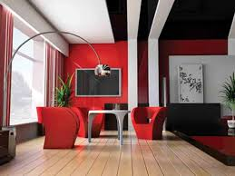 red wall living room decorating ideas red white