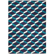 light blue lorenzo reversible peruvian flat weave rug alt image 1