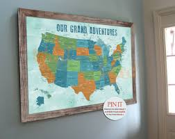 map of america push pin map x inches america trips