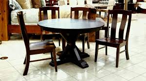 henderson round table with albany side chairs dining room sets gallery furniture