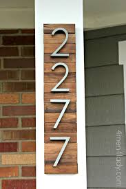 then i added my house numbers that i found from design within reach and there you have it