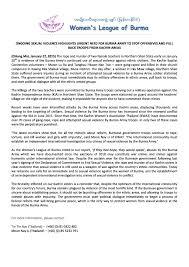 Violence Against Women And Safe Houses Karen Women Organisation