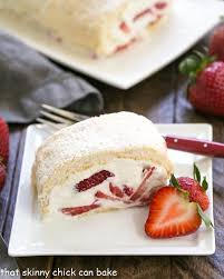 Strawberry Filled Meringue Roulade