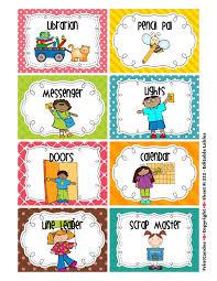 Clip Art For Preschool Job Chart Preschool Responsibility