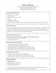 Resume Formats Examples Pointrobertsvacationrentals Com