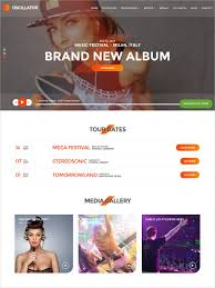Music Website Templates Gorgeous 28 Music Website Themes Templates Free Premium Templates