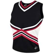 3 Color Kick Cheerleading Uniform Shell Top Part Of The