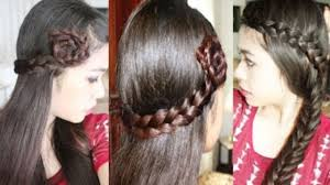 Lace Hair Style easy quick & chic everydayparty hair tutorial lace braid rosette 1375 by wearticles.com