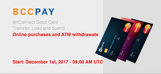bitconnect coin debit card release 2017