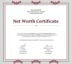 6 Net Worth Certificate Formats Free Word Pdf Templates