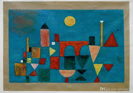2018 red bridge by paul klee abstract oil painting for home or hotel decoration h 0566 from ssdchan77 195 98 dhgate com