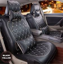 high quality luxury danny leather car seat cover universal cute car seat covers fashion grid leather