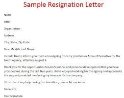 2 Weeks Notice Letter Resignation Week Formal Format Sample