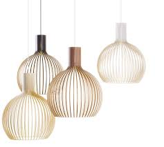 Octo 4240 Wooden Modern Pendant Lamp Secto Design Secto Design