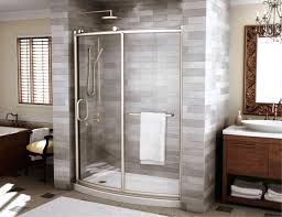 curved bathtub bathtubs idea hinged glass doors outstanding shower combo