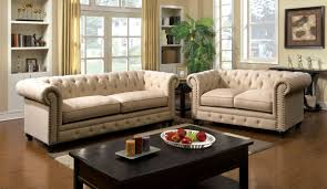 Ivory Living Room Furniture Furniture Of America Cm6269iv Sf Cm6269iv Lv Stanford 2 Pieces