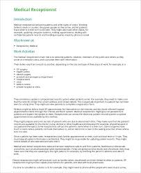 Resume Template For Receptionist 73 Images Best Receptionist