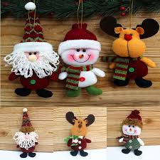 cheap christmas decor: hot newest christmas decorations doll ornaments pendant reindeer elk xmas tree home fence decorative
