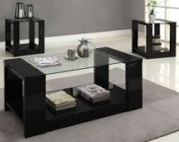 ... Coffee Table, Black Glass Coffee And End Tables Mason 3 Piece Table Set  Dark Gray