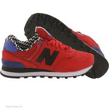 new balance shoes red and black. new balance shoes sale 574 paint chip wl574acc red/blue/black ne 6659 red and black