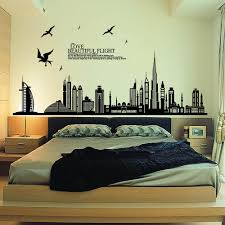 removable wall sticker city silhouette buildings art decals mural diy wallpaper for room decal 60 90cm home decoration wall mural decal vinyl art stickers